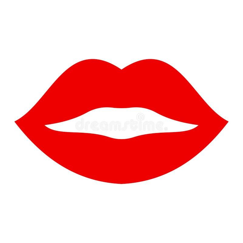 Губа поцелуя - запас иллюстрация штока