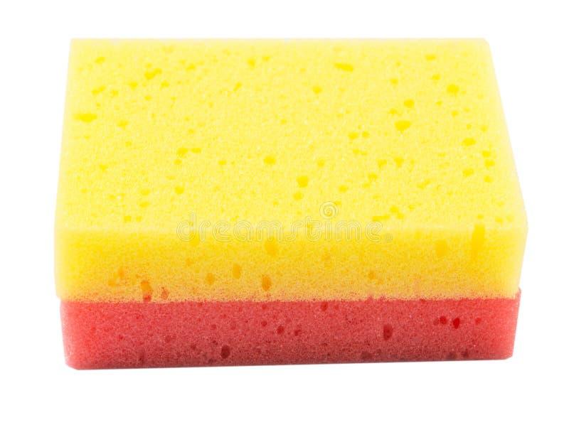 Губка IV красного и желтого блюда моя стоковое изображение