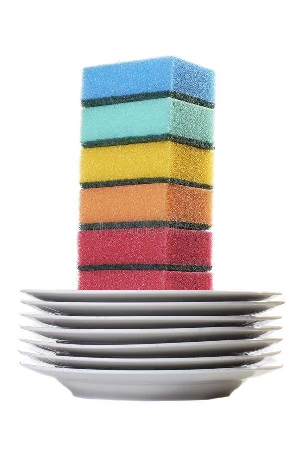 губки комплекта цвета стоковые фотографии rf
