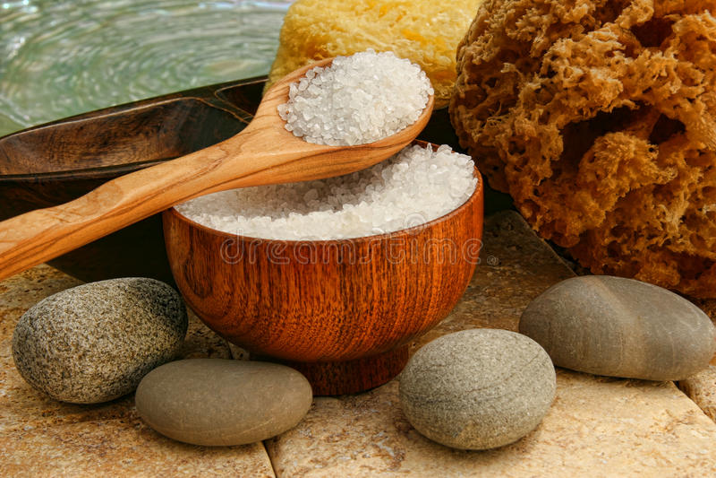 губки солей утесов реки ванны стоковые изображения