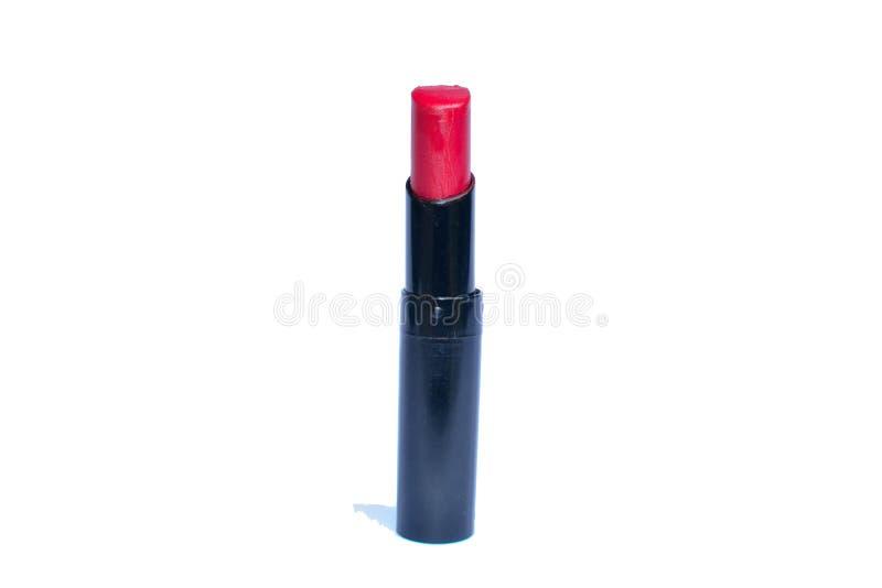 Губная помада изолированная красным цветом стоковые фотографии rf