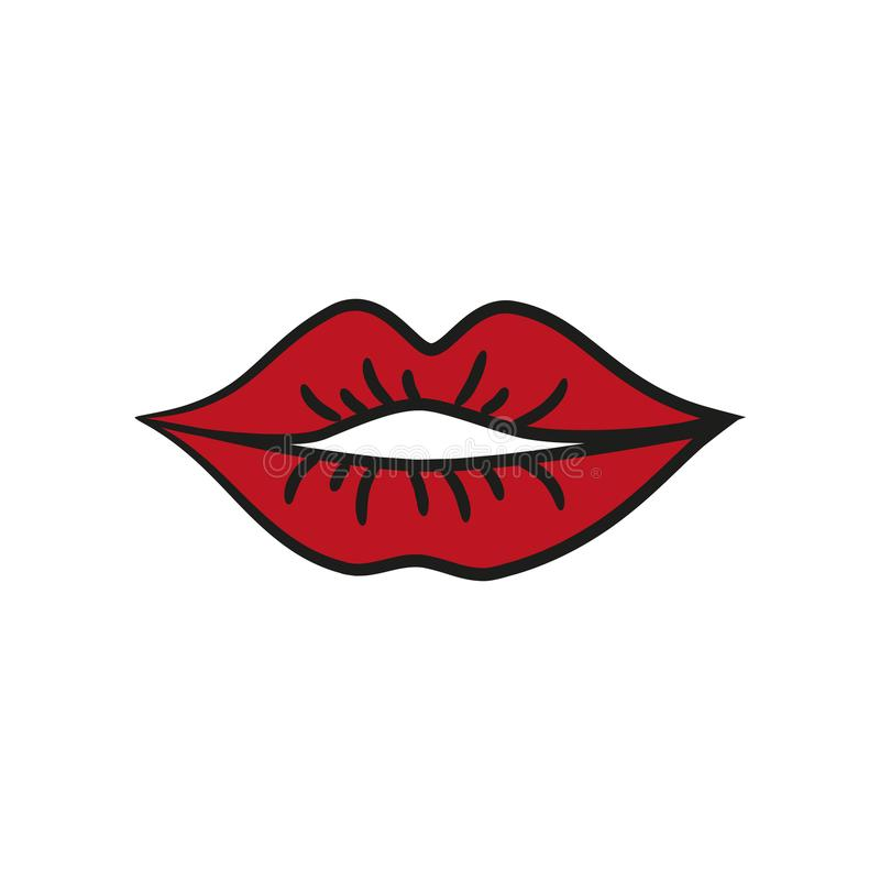 губы иконы красные бесплатная иллюстрация