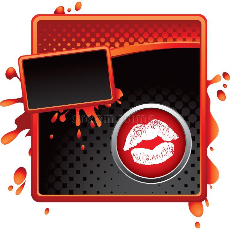 губы halftone знамени бесплатная иллюстрация