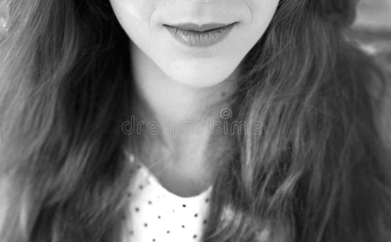 губы s девушки стоковые изображения rf