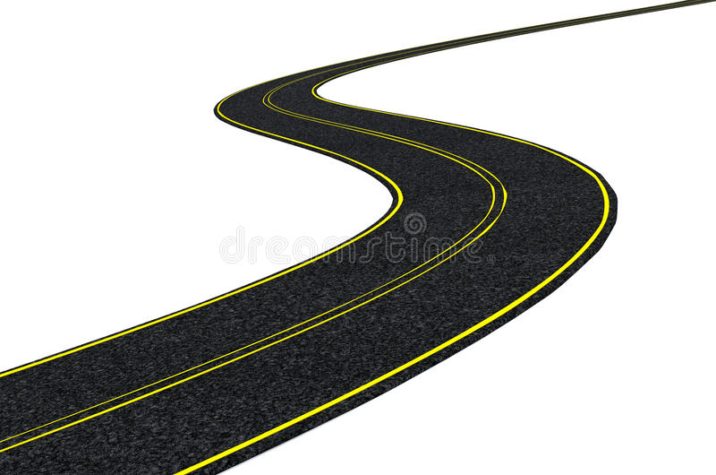 гудронированное шоссе дороги blacktop иллюстрация вектора