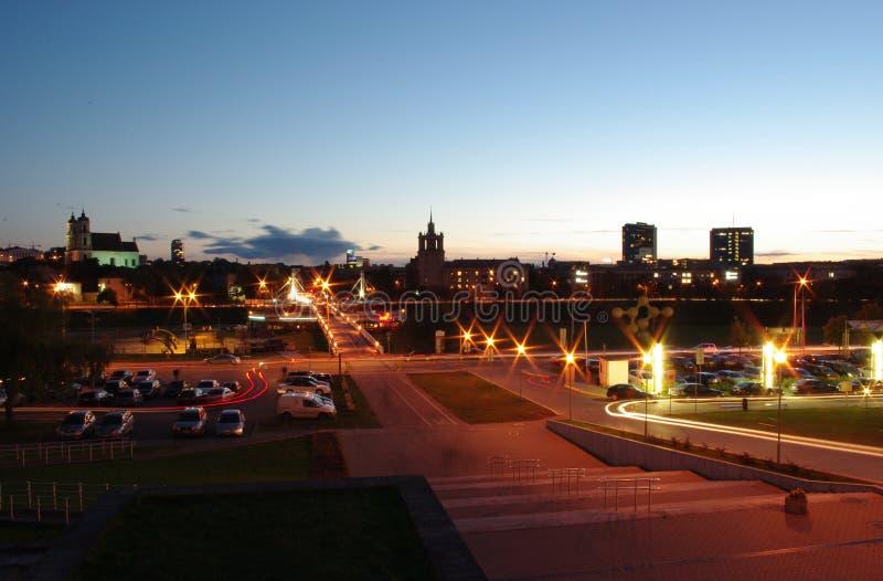 гулять городка моста стоковое фото rf