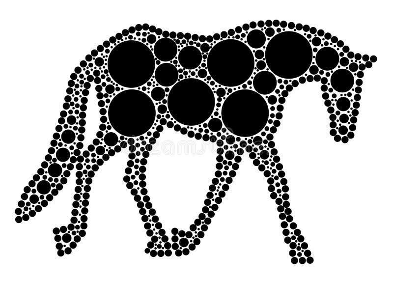 гулять лошади иллюстрация вектора