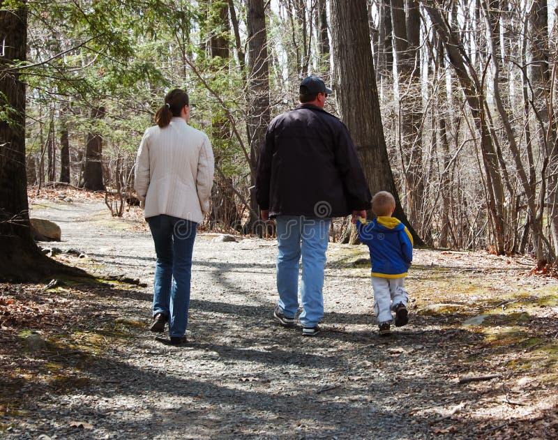 гулять путя семьи утесистый стоковые изображения