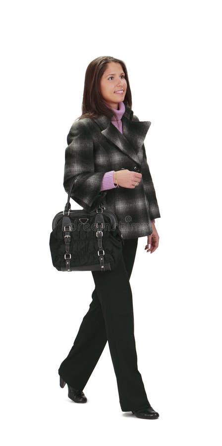гуляя женщина стоковое фото rf
