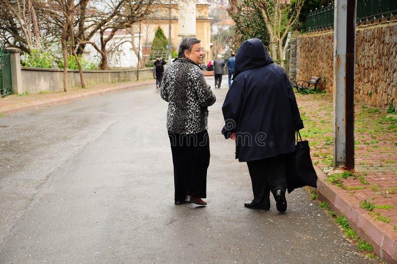 гуляя женщины стоковое фото