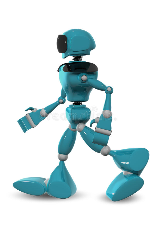 Гуляя робот иллюстрация вектора