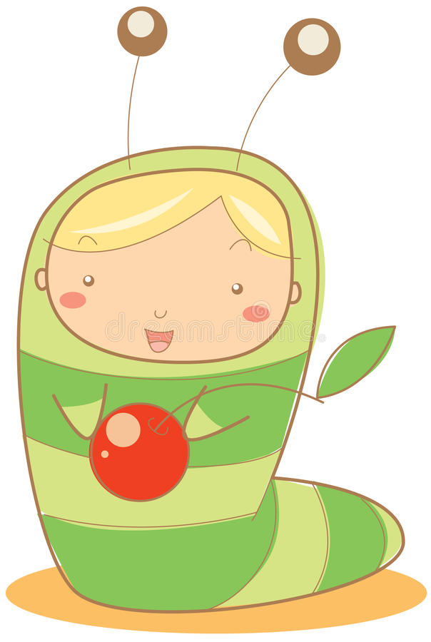 гусеница младенца иллюстрация вектора