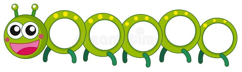 Гусеница с счастливой стороной иллюстрация вектора