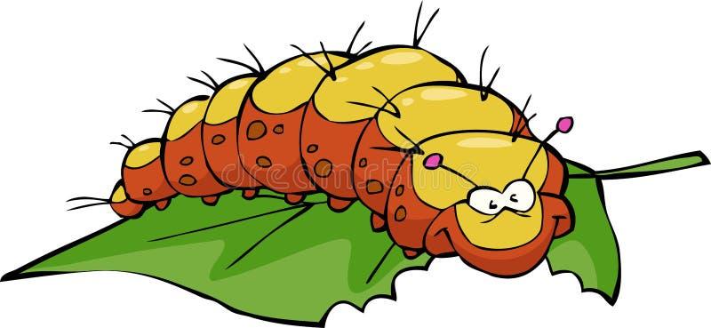 Гусеница иллюстрация штока