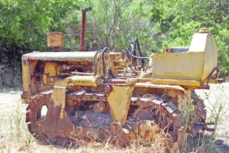 Гусеничный трактор стоковое изображение rf