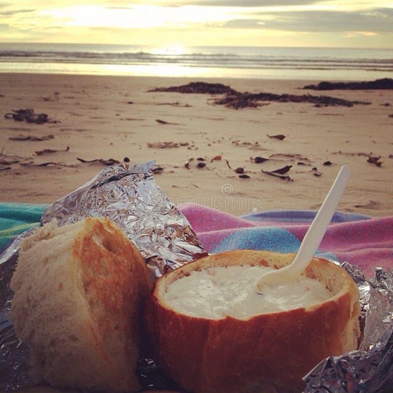 Густой суп Beachin стоковое изображение rf