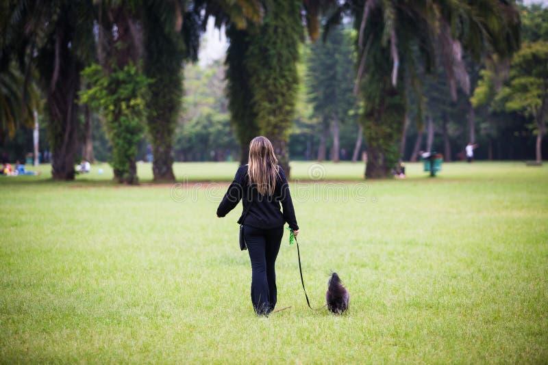 гуляя женщина стоковая фотография rf
