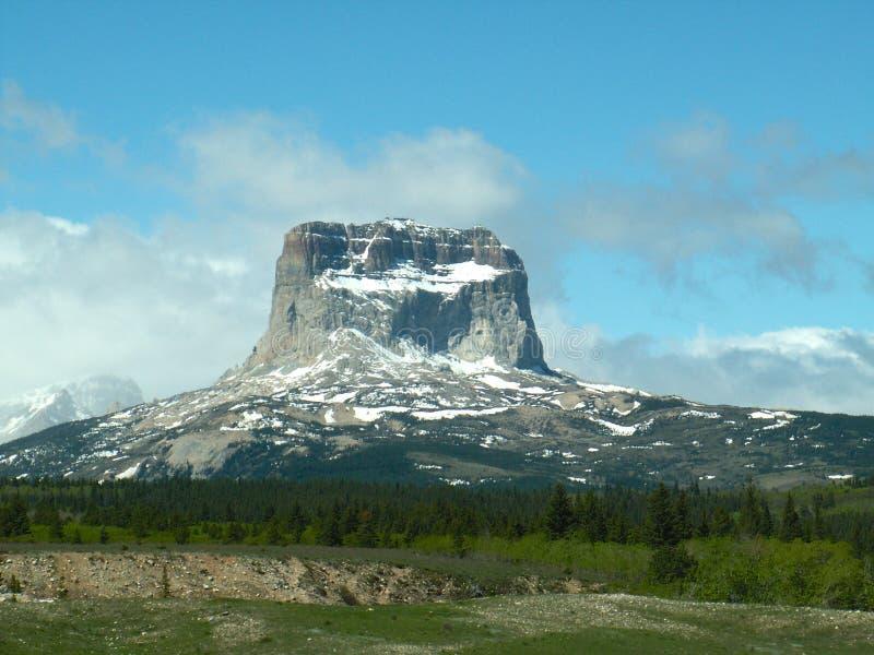 Главная гора, национальный парк ледника стоковая фотография