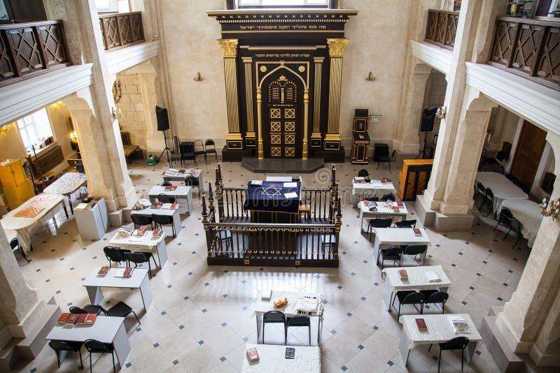 Главная зала еврейства синагоги стоковые изображения rf
