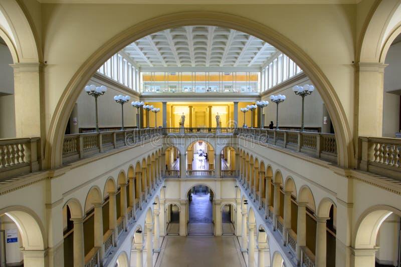 Главная зала университета Цюриха, ETH стоковое фото