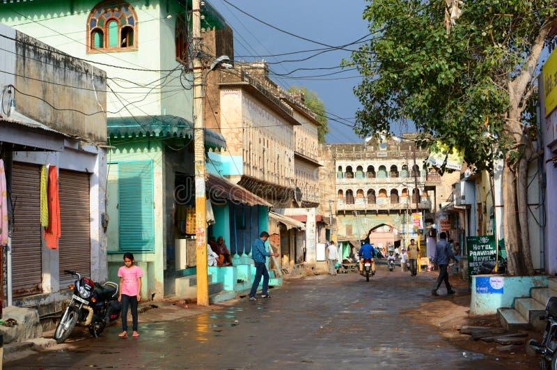 Главная дорога Mandawa Раджастхан Индия стоковое изображение