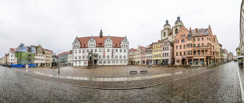 Главная площадь города Wittenberg Luther в Германии стоковое изображение