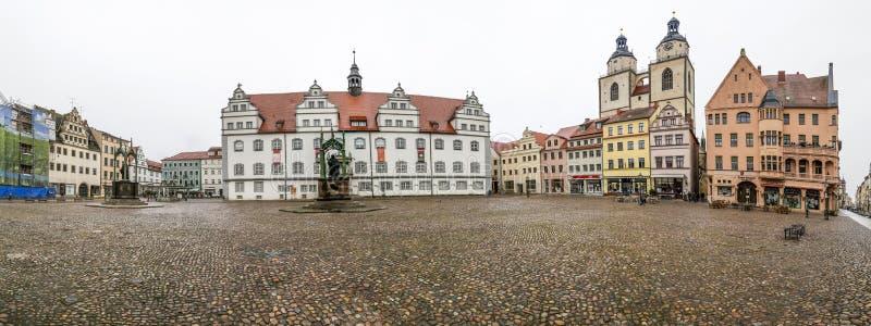 Главная площадь города Wittenberg Luther в Германии стоковые фото