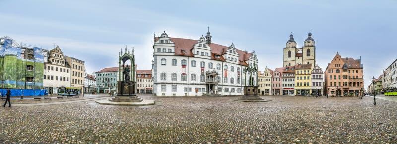 Главная площадь города Wittenberg Luther в Германии стоковые фотографии rf