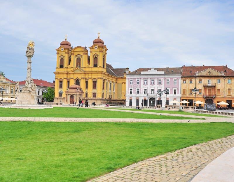 Главная площадь городка Timisoara старого, Румынии стоковая фотография rf