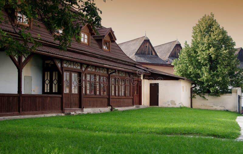 Главная площадь исторического городка Spisska Sobota, в настоящее время района города Poprad стоковое изображение rf