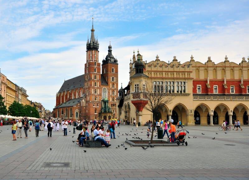Главная площадь Кракова стоковое изображение rf