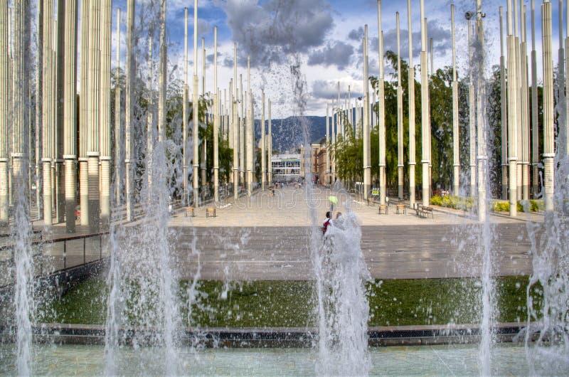 Главная площадь Medellin стоковые фотографии rf