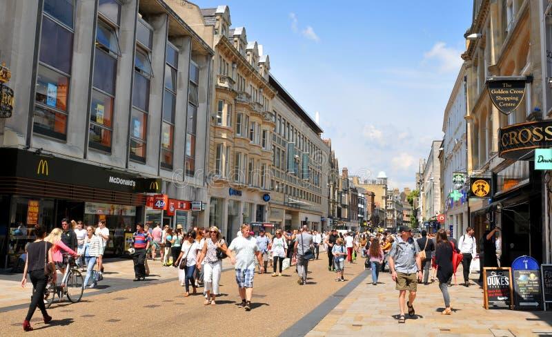 Главная улица Оксфорда стоковая фотография rf