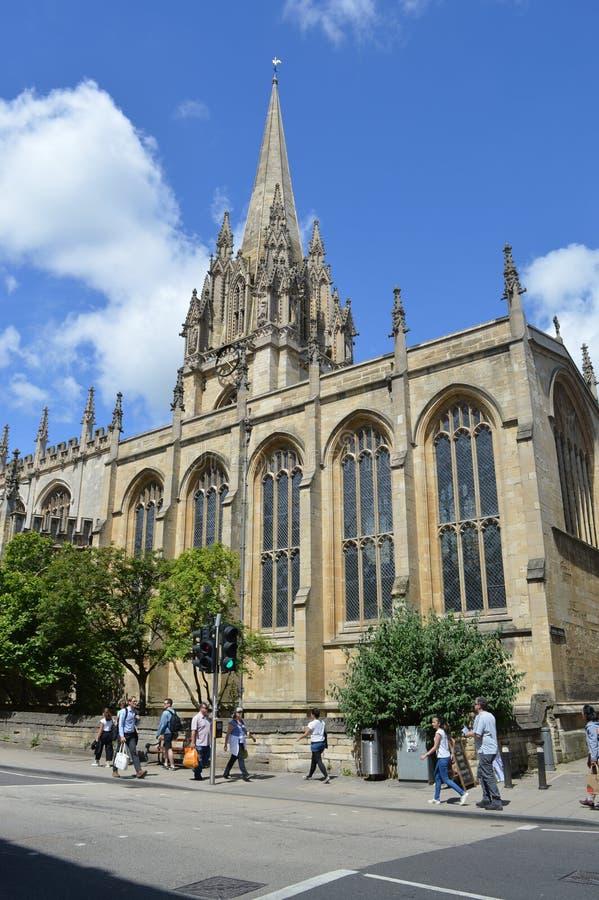 Главная улица, Оксфорд, Великобритания стоковые изображения rf