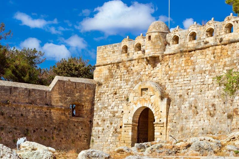 Главный вход замка Fortezza в Rethymno, Крите стоковое изображение