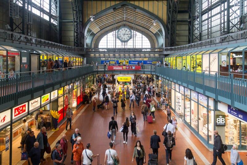 Главный ж-д вокзал Гамбурга стоковая фотография rf