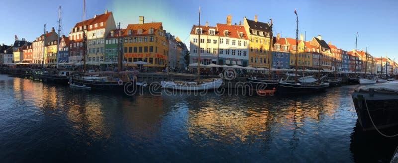 Главный канал в Копенгагене стоковое изображение rf