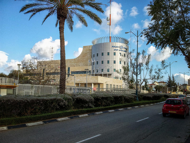 Главный полицейский участок Rishon Le Сиона стоковое изображение