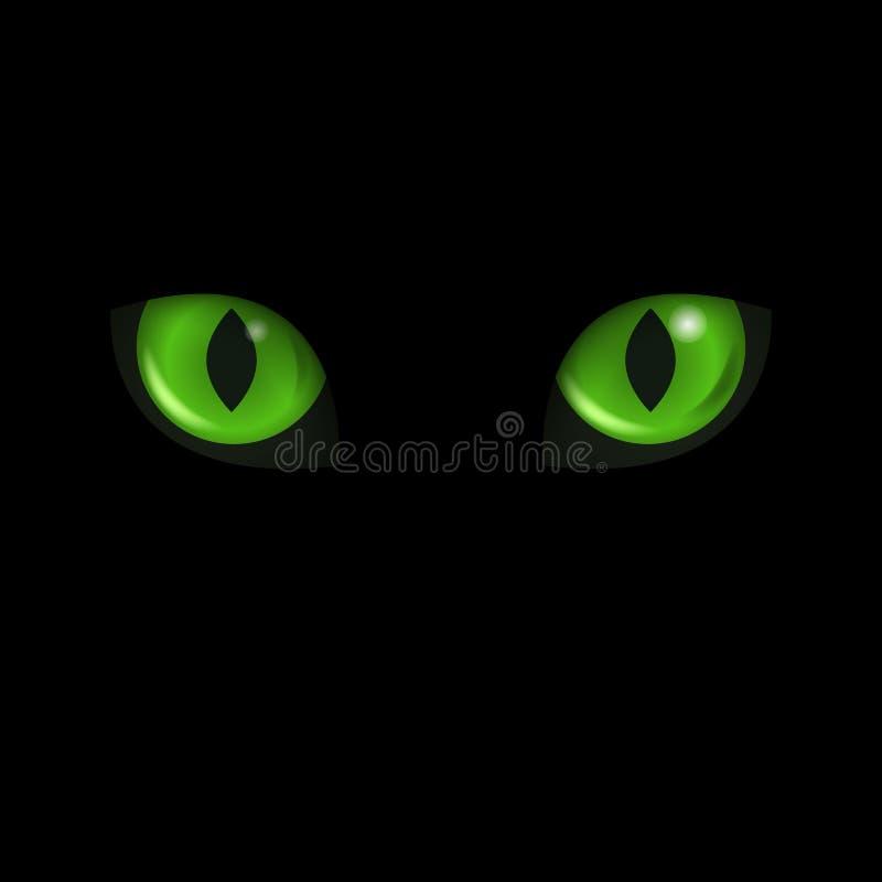 Глаза кота вектора черный кот иллюстрация штока