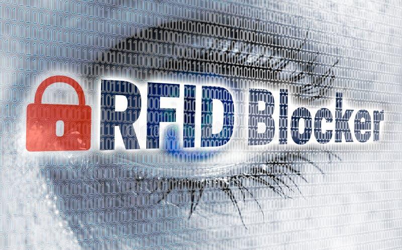 Глаз блокатора RFID с матрицей смотрит концепцию телезрителя бесплатная иллюстрация