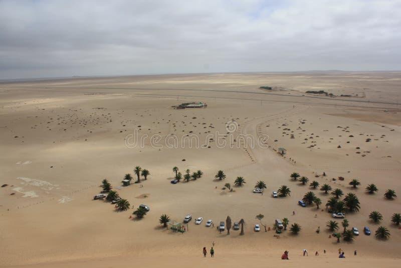 Глаз-взгляд птицы от вершин дюн стоковое фото rf