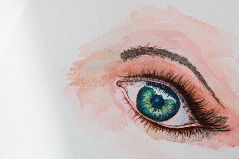 Глаз картины акварели стоковые фото