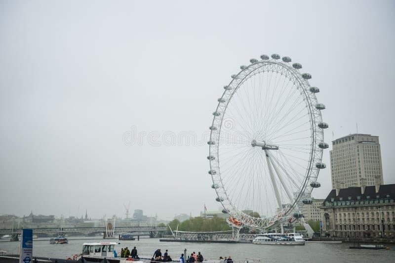 Глаз Лондона, Англия стоковые фото