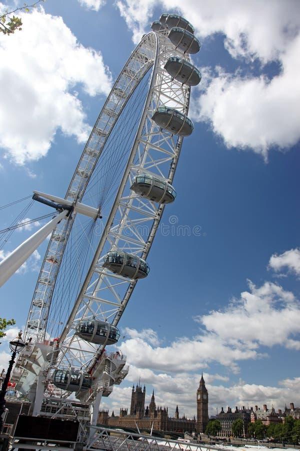 Глаз Лондона в Лондоне, Великобритании стоковое изображение rf