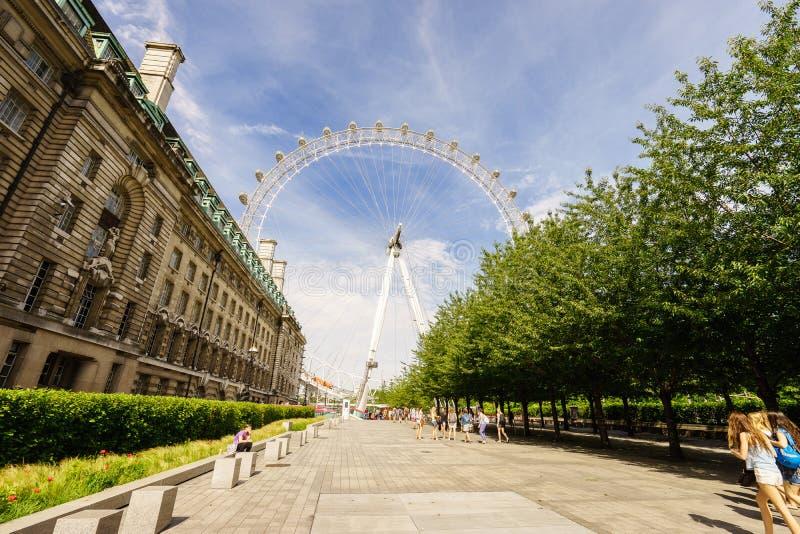 Глаз Лондона, Лондон, Англия, Великобритания стоковое изображение rf