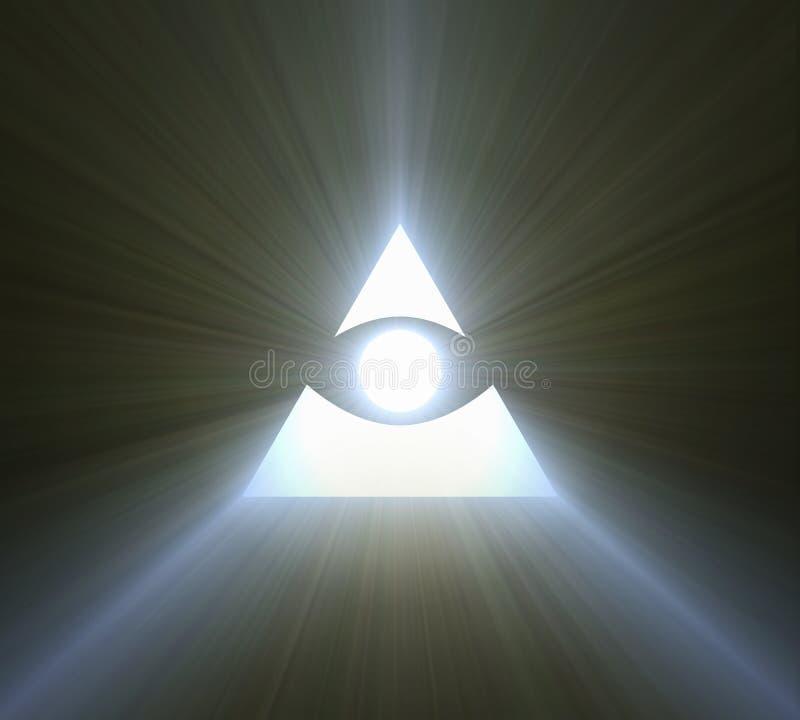 Глаз пирофакела providence яркого светлого иллюстрация штока