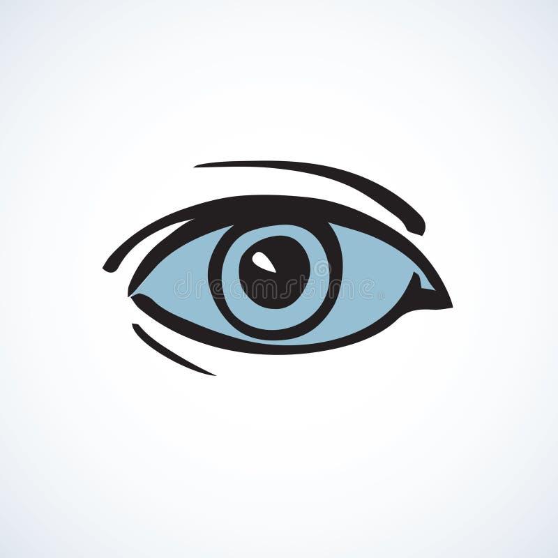 Глаз предпосылка рисуя флористический вектор травы иллюстрация вектора
