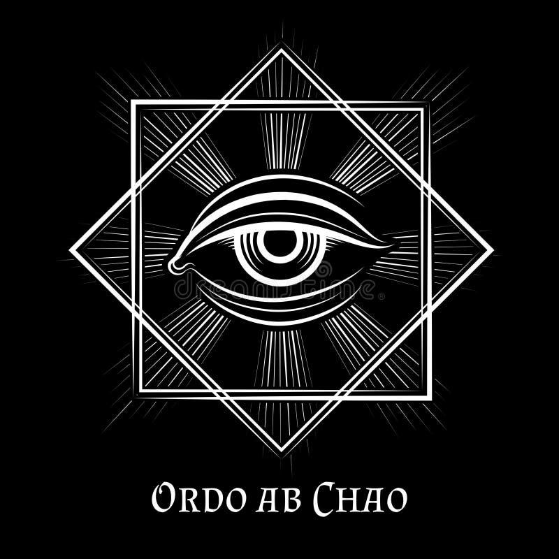 Глаз символа Провиденса masonic бесплатная иллюстрация