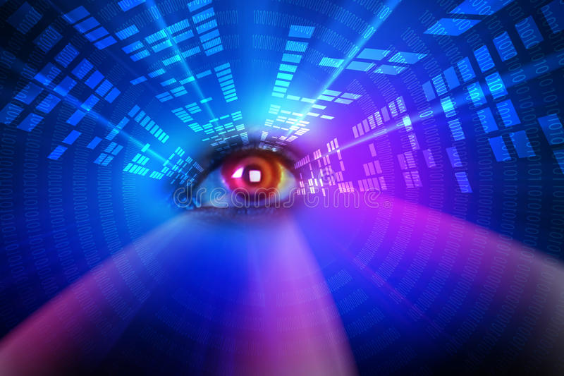 Глаз цифров иллюстрация вектора