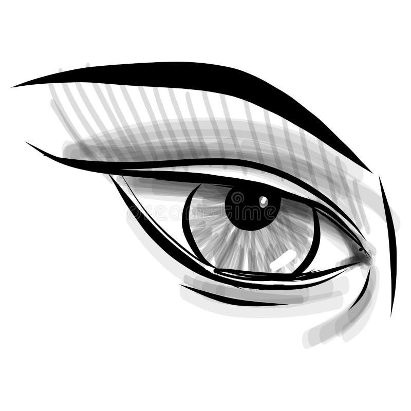 Download Глаз эскиза. Ребяческая иллюстрация стиля Doodle Иллюстрация вектора - иллюстрации насчитывающей представьте, деталь: 40585463